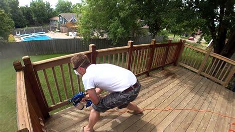 spray painting vs rolling staining a deck roll vs brush vs spray
