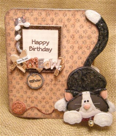 how to make a cat card cats meowing handmade greetings and birthday cards on