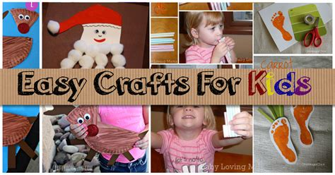 simple kid crafts easy crafts for diy projects