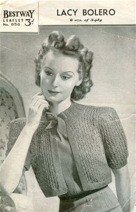 vintage knit vintage bolero knitting patterns available from the
