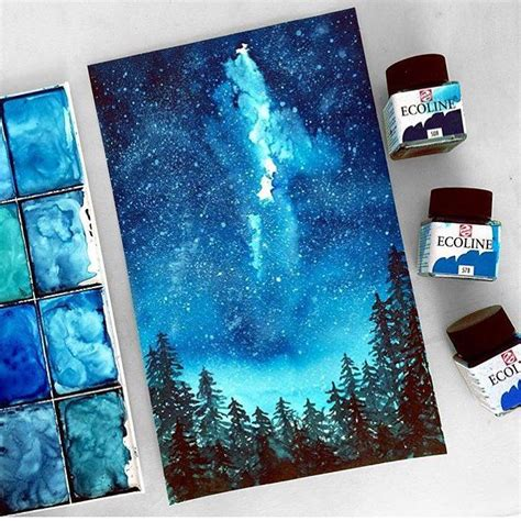 1000 ideas about night sky painting on pinterest sky