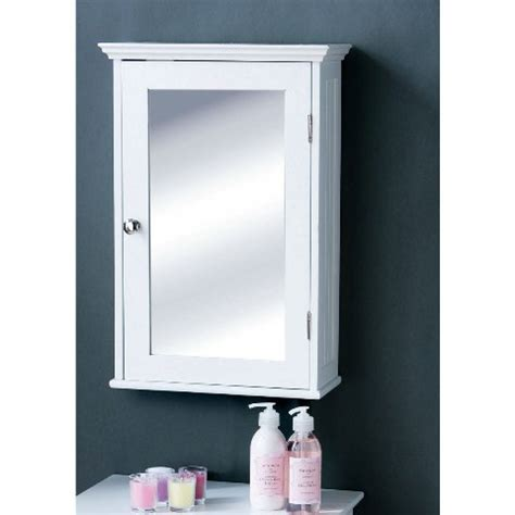 White Mirrored Bathroom Cabinet by Bathroom Cabinet In White Wood With A Mirrored Door