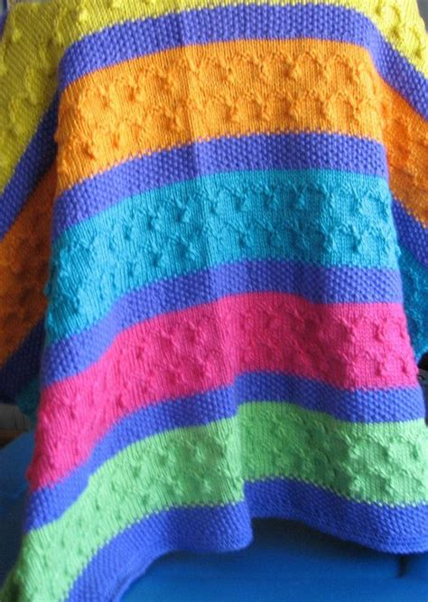 multi coloured knitted baby blanket 17 best images about blankets afghans knitted on