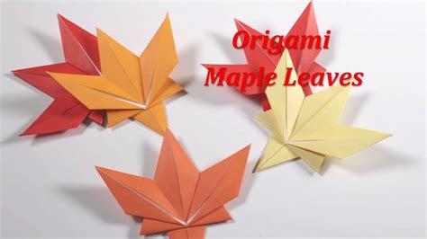 origami with leaf origami maple leaf