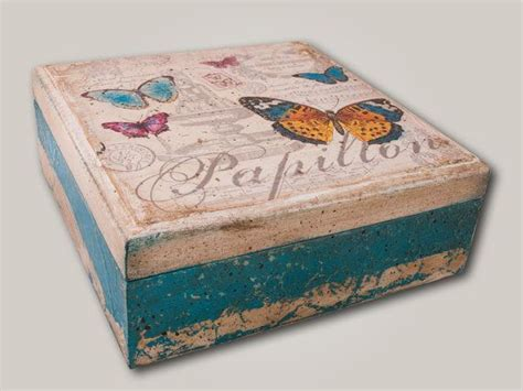 boxes for decoupage wooden treasure vintage decoupage box