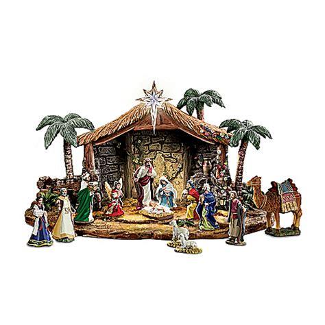 nativity set collection kinkade indoor outdoor nativity set magnificent
