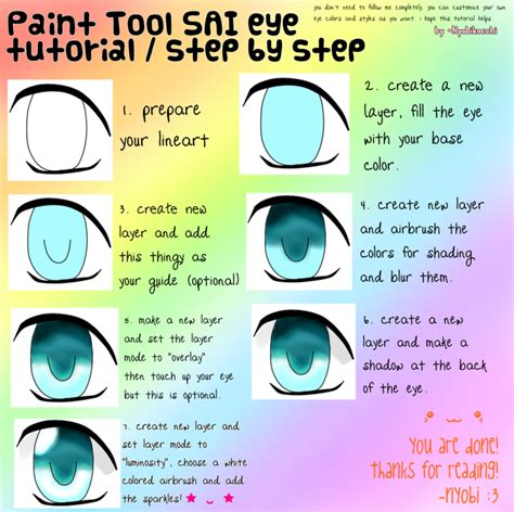 paint tool sai tutorial paint tool sai eye tutorial by nyobikocchi on deviantart