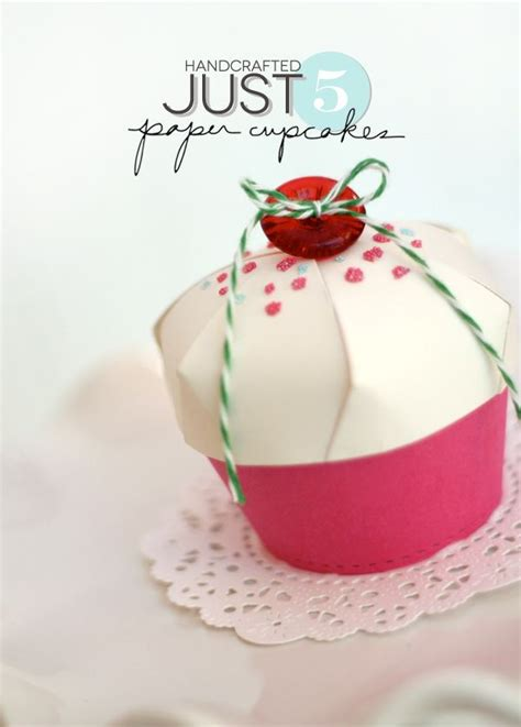 paper cupcake craft diy paper cupcake gift favor box packaging wrapping