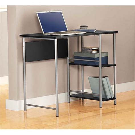 mainstay computer desk new mainstays basic student computer desk black silver ebay