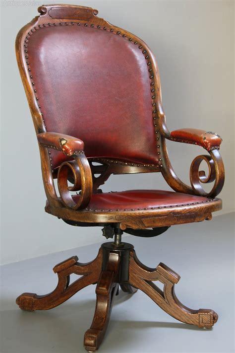 Antique Desk Chairs Swivel by Antique Oak Swivel Desk Chair Antiques Atlas