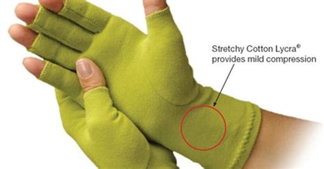 compression gloves for knitting the creative comfort crafter s comfort gloves are made