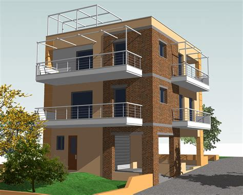 three story building three storey residential building made by g n architects
