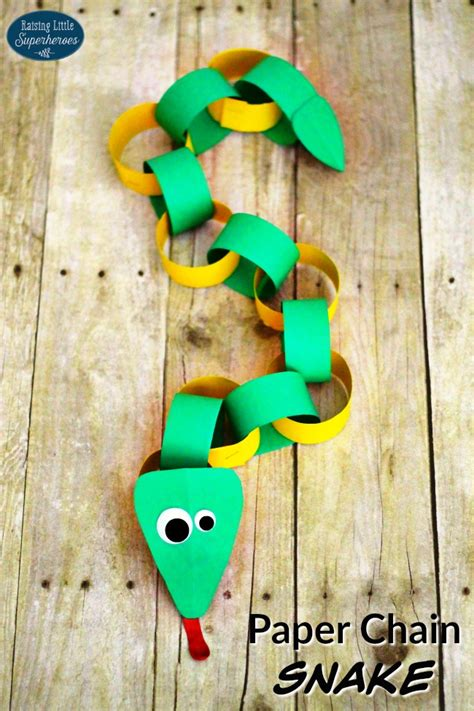 paper chain crafts how to make a paper chain snake