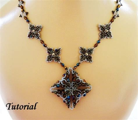 bead necklace tutorial patterns pdf for beadwoven necklace beading pattern tutorial
