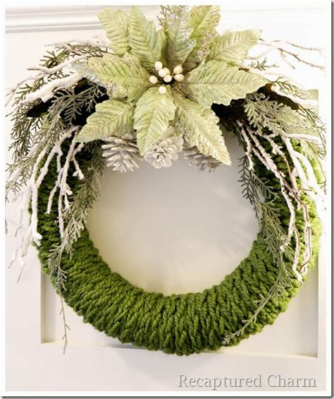 finger knit wreath recaptured charm finger knitted wreath
