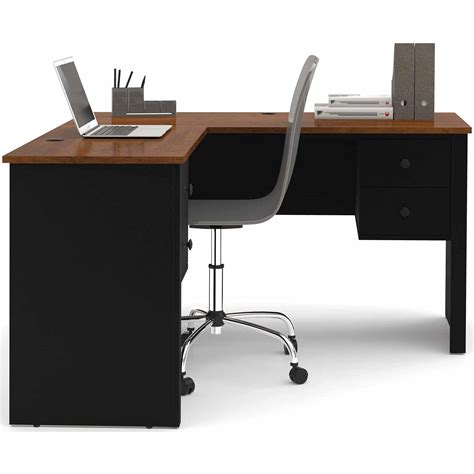 office desk l monarch cappuccino hollow l shaped home office desk