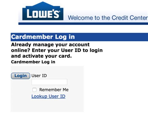 Lowe S Credit Card Login Make Payment