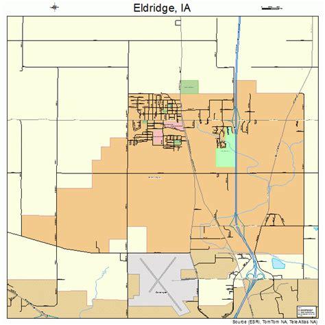 by eldridge eldridge iowa map 1924600