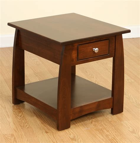 modern furniture end tables modern furniture sonoma solid cherry wood end table amish