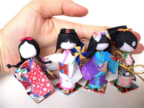 japanese paper crafts japanese 3d paper dolls washi ningyo with tutorial