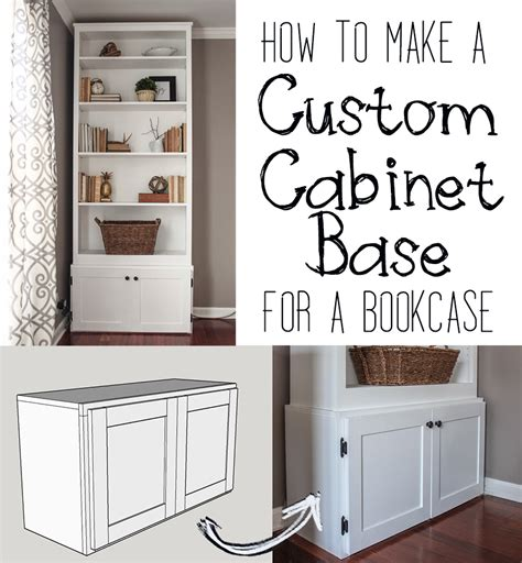 bookshelf with cabinet base how to build a custom cabinet base for a bookcase