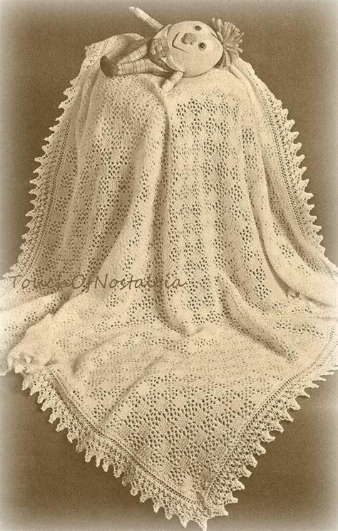 vintage shawl knitting patterns best 25 baby shawl ideas on