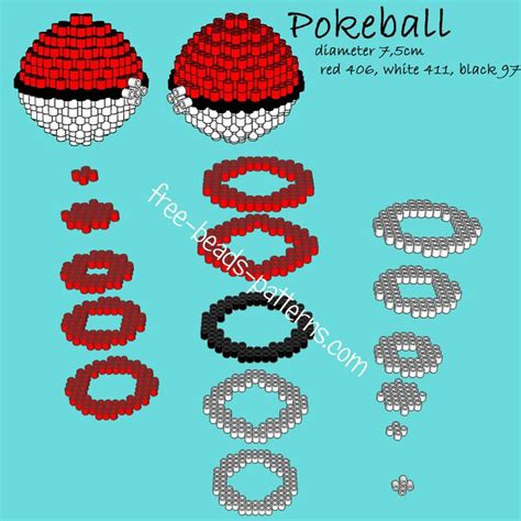 how to make 3d perler pokeball 3d perler hama playbox pyssla pattern
