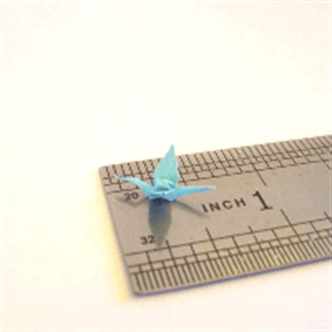 smallest origami crane see the tiny origami crane