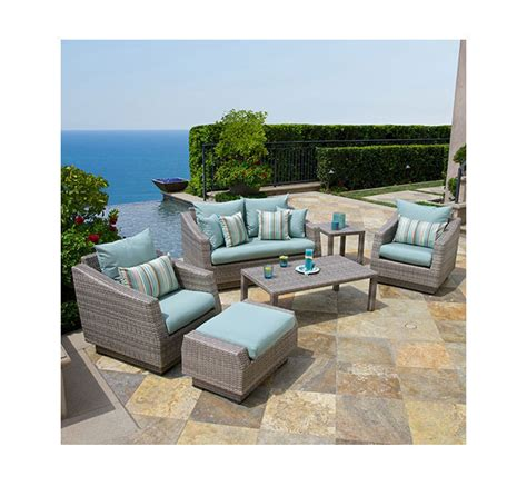 gray patio furniture sets rst brands 4 cannes sectional and conversation table patio furniture set