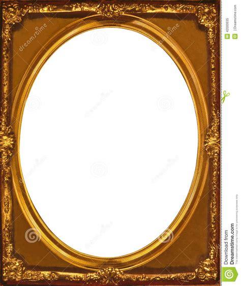 ovale int 233 rieur de cadre multicouche d or dans un cadre rectangulaire illustration stock image