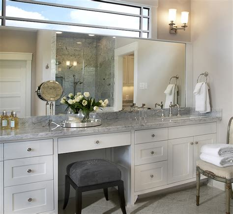 bathroom cabinets with makeup vanity built in makeup vanity traditional bathroom