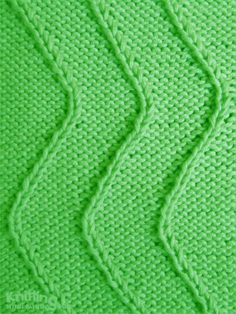 right twist knitting twist stitch waves knitting stitch patterns