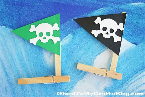 pirate crafts for clothespin pirate ships kid craft glued to my crafts