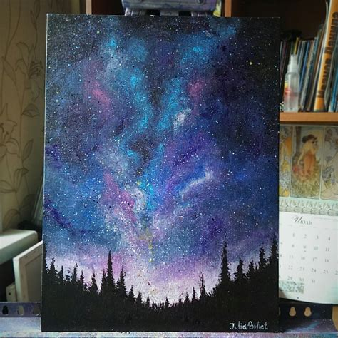 acrylic painting a galaxy artists on acrylic painting