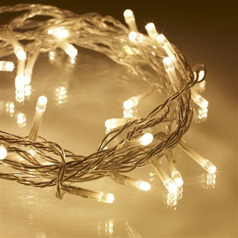 fairly lights 40 warm white led indoor lights on clear cable