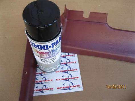 spray paint plastic engine cover datsun napa interior spray paint paint