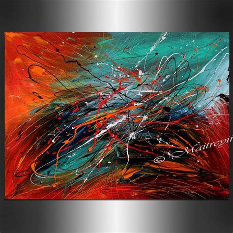 acrylic paint for large canvas abstract large artwork teal turquoise contemporary