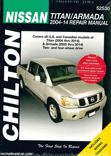 what is the best auto repair manual 2004 chrysler sebring electronic valve timing chilton 2004 2014 nissan titan 2005 2014 nissan armada auto repair manual