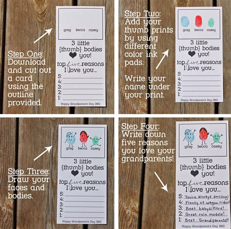 card ideas for grandparents day grandparent s day thumbprint cards who arted
