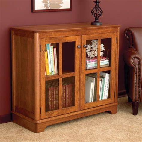 bookcase plans with doors glass door bookcase woodworking plan from wood magazine