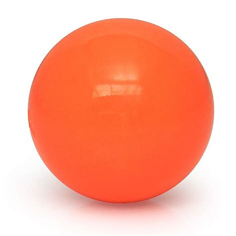 orange balls single hop 4 inch 100mm contact juggling home of poi