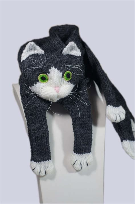 cat knitting knitting pattern for cat scarf ad this is one of the