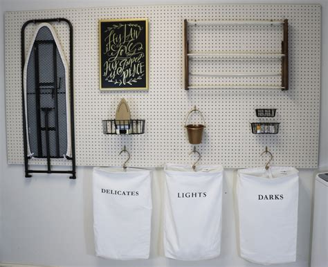 diy laundry room storage remodelaholic how to hang pegboard for laundry