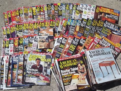 the woodworker magazine back issues lot 100 american woodwork magazines back issues