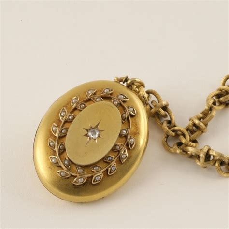 jewelry lockets antique pearl gold locket necklace for sale at 1stdibs