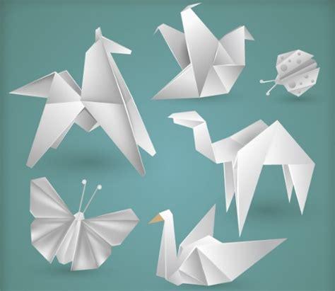 origami ui free vector white origami animals titanui