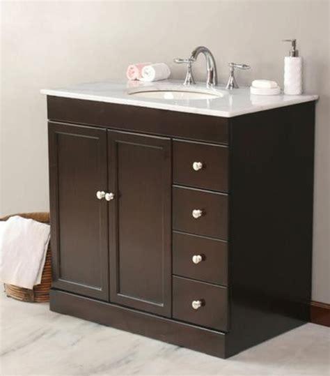 sink for bathroom vanity virtu usa 36 quot modena espresso white marble single sink