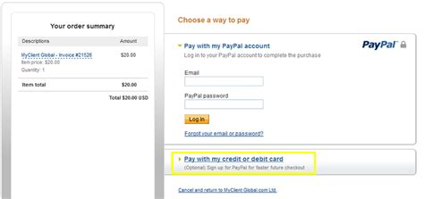 make a payment to paypal credit card how to pay your myclient invoice myclient the ultimate