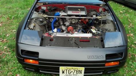 how does a cars engine work 1987 mazda familia regenerative braking purchase used 1987 mazda rx7 rx 7 fc3s rotary engine turbo ii satin black new parts mods boost