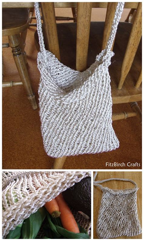 how to knit a bag on a loom fitzbirch crafts loom knit market bag